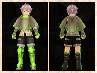 冒険者の服 蛍光緑3 重量化 男