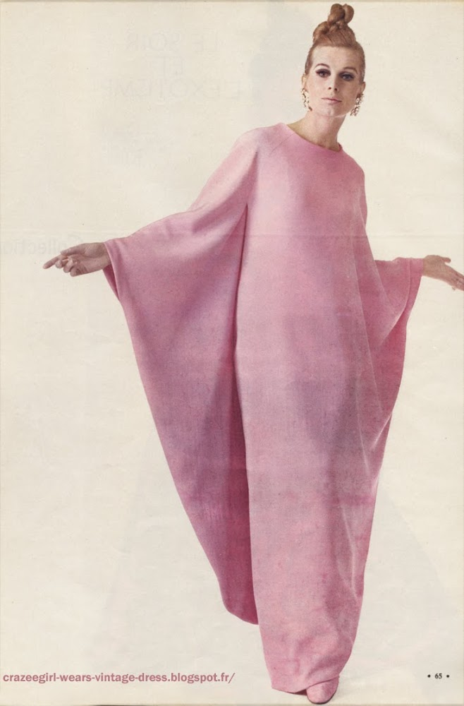 Party dress  pink  Ricci 1966 60s 1960
