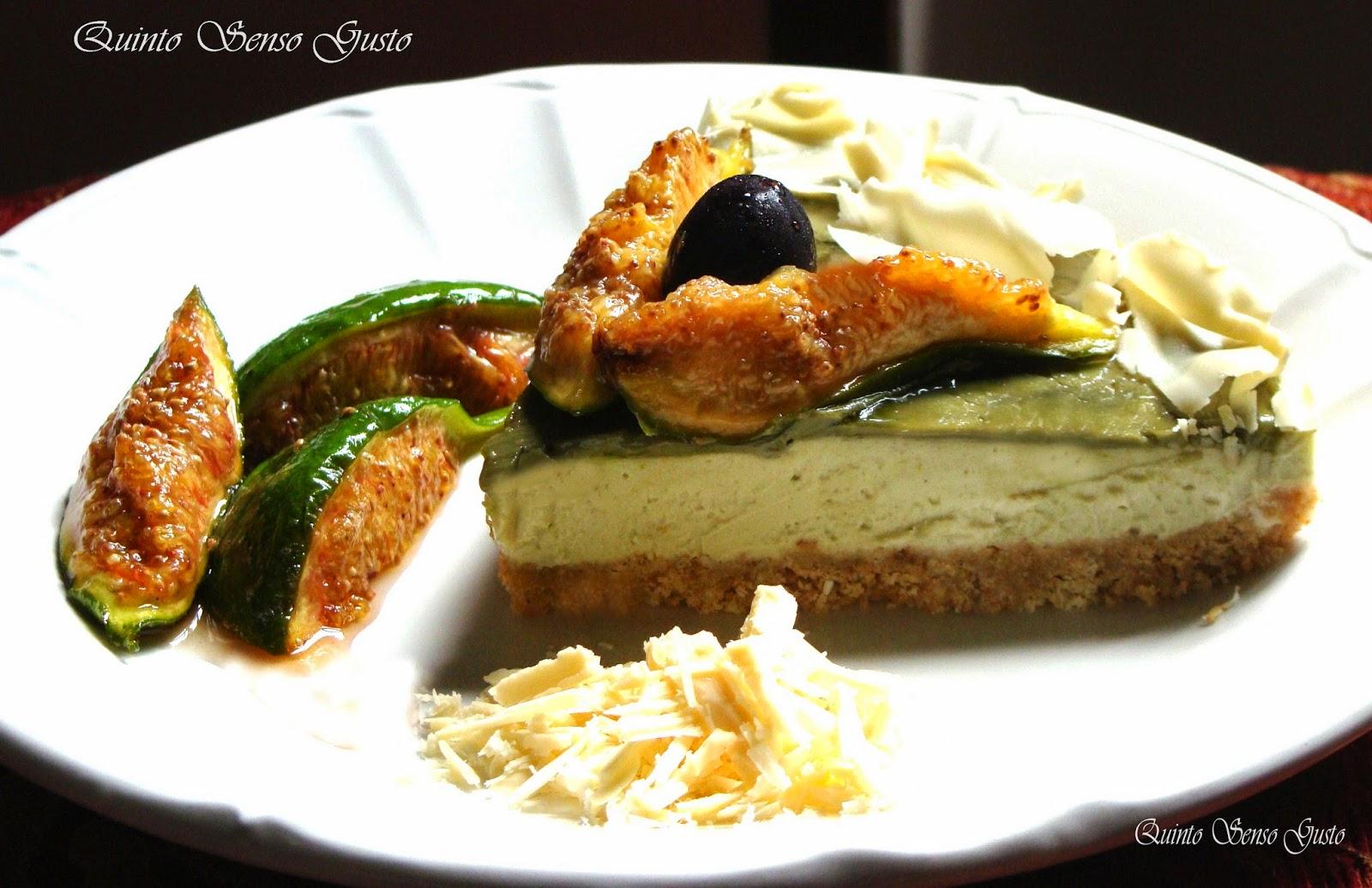 cheesecake ai fioroni caramellati e crema di pistacchio di bronte ( senza cottura )