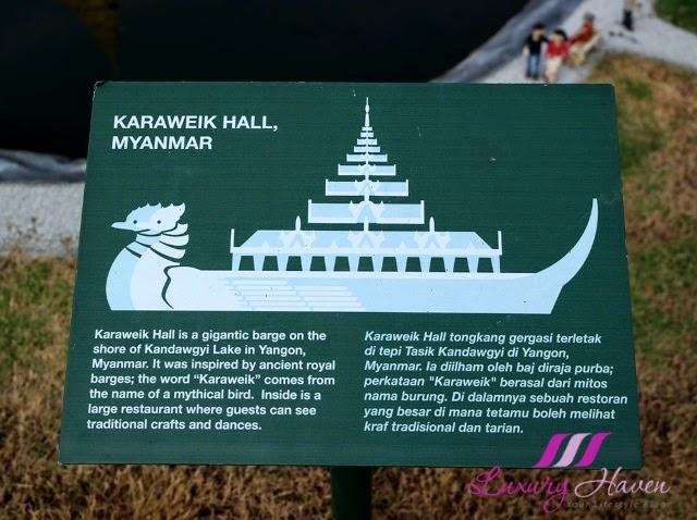 legoland theme park miniland karaweik hall myanmar