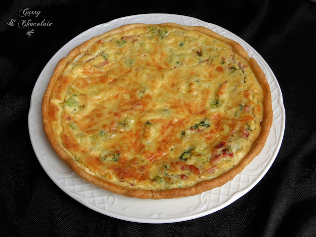 Quiche de brócoli y bacon - Bacon and broccoli quiche
