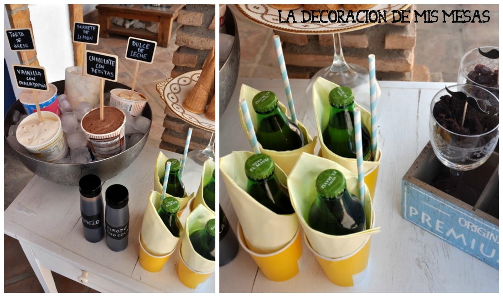 La decoraci n de mis mesas julio 2014 - Decoracion de helados ...