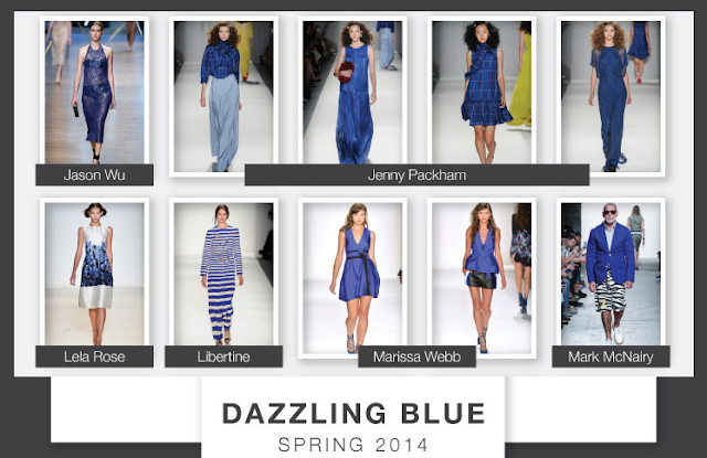 Image: Dazzling Blue The Pantone Color For Spring 2014 On The Runways