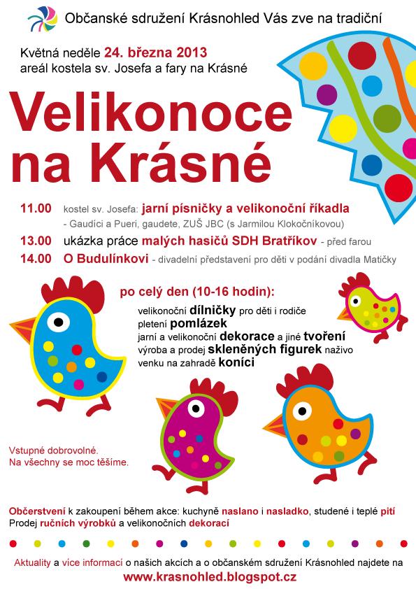 Velikonoce na Krásné 24. 3. 2013 - plakát