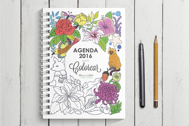 Agenda para colorear 2016