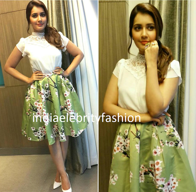 Raashi Khanna in Closetdairies Outfit for Shivam Promotions