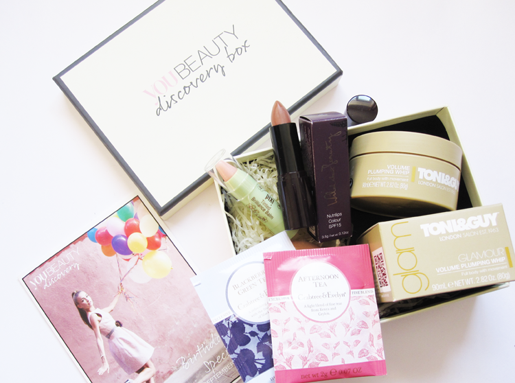 A picture of You Beauty Discovery Box - September 2014 review