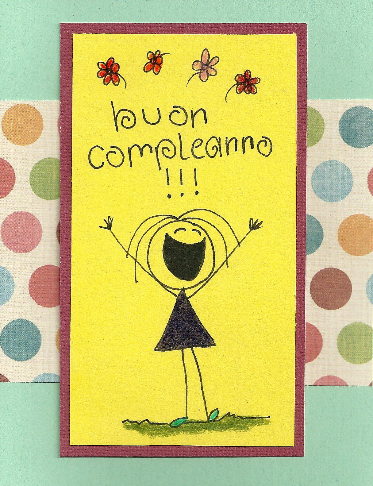 debbie dots greeting card blog italian birthday, Birthday card
