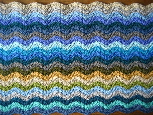 Haaknaald Golfsteek Of Chevron Ripple Stitch