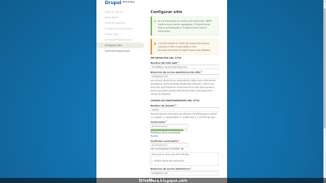 DriveMeca instalando Drupal en Linux Ubuntu Server paso a paso