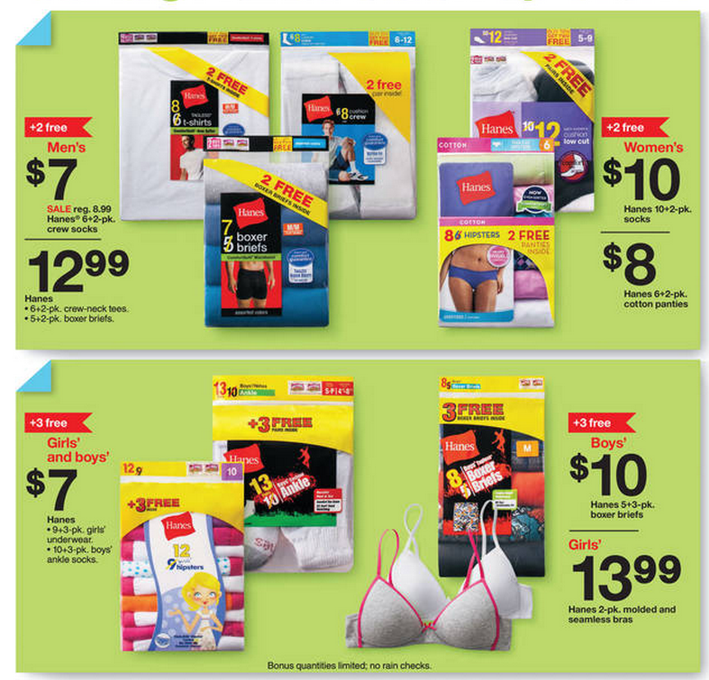 Hanes coupons target