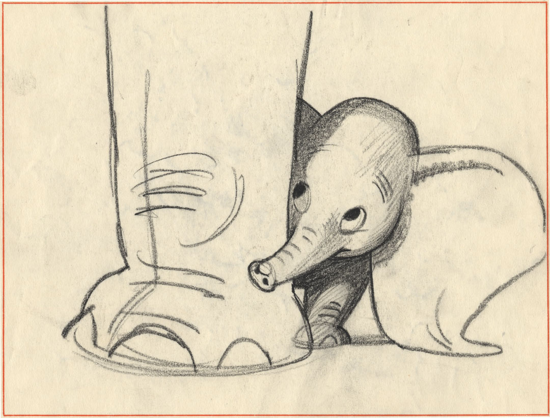 Dumbo Elephant Drawing You Can Feel The Elephant