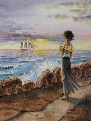seascape watercolor art