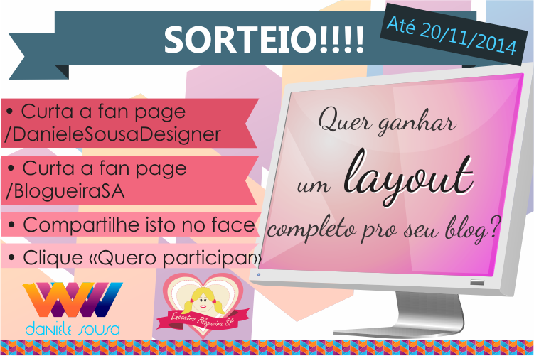 Ganhe um template personalizado para blogspot! Sorteio mundial do facebook!