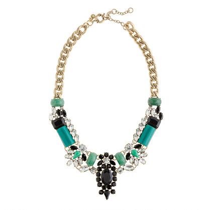 J.Crew crystal encrusted necklace, statement necklace, Fall accessories