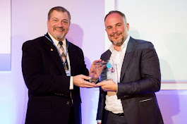 Presenting an award at Global Bottled Water Awards, Prague