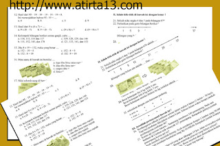 Kumpulan Contoh Soal Latihan UAS kelas 12 3 4 5 6 Sekolah Dasar