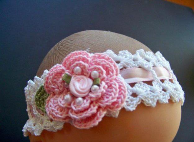 Tejidos a crochet para niños: cintillo a crochet