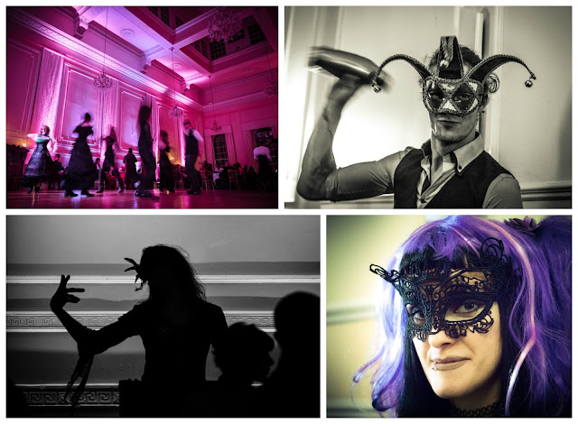 Photo collage featuring images from the Black Rose Ball - Chris Jones Photography