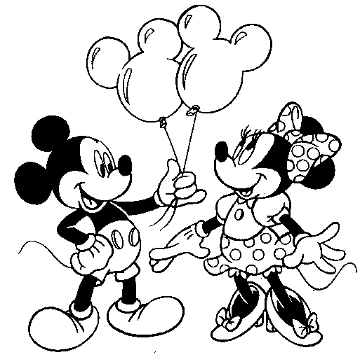 Mickey Mouse And Minnie Mouse Kissing