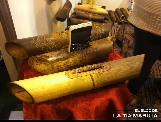 Biocultura Madrid altavoz bambu