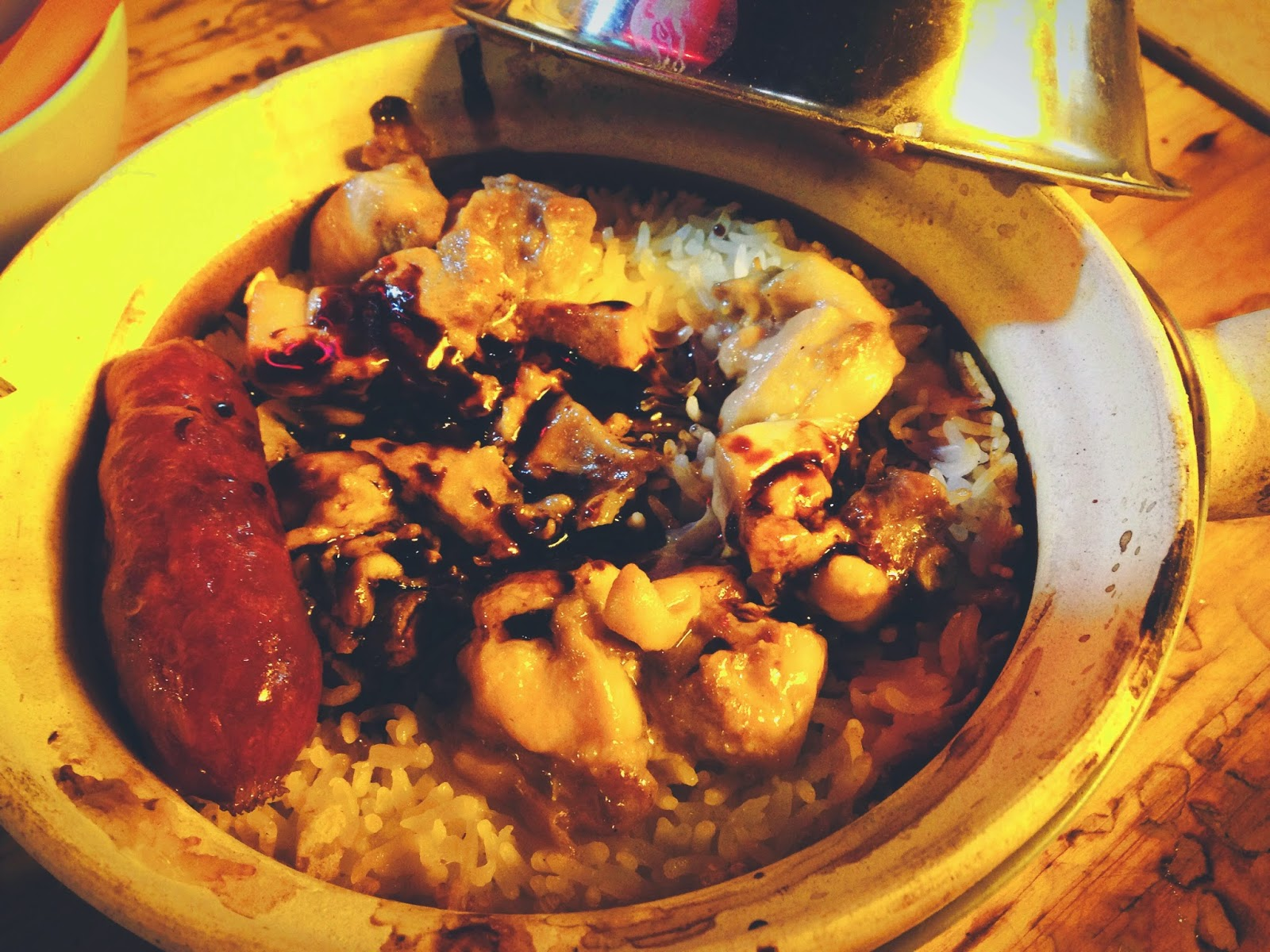 Chicken & Chinese Sausage Claypot Rice at Hing Kee Claypot Rice Temple St