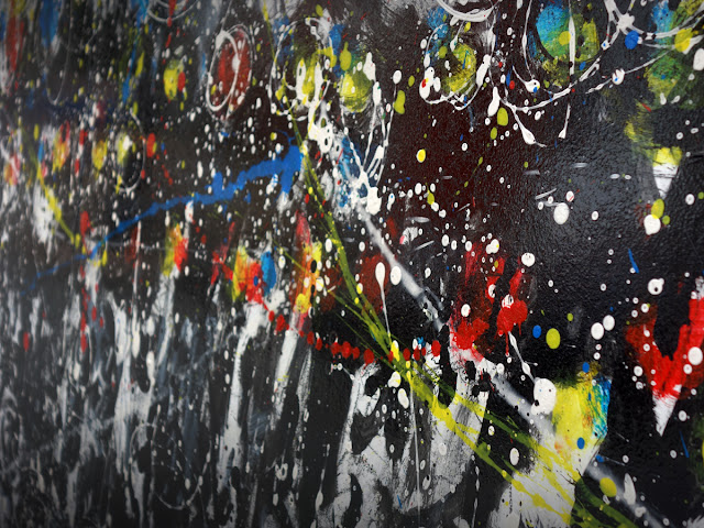"""Jérôme Champsavoir « Carnaval » - 02 - 2015 - Peintures murales sur le palissade ouest - En face des """"Petits papiers"""" - 29 Mai 2015"""