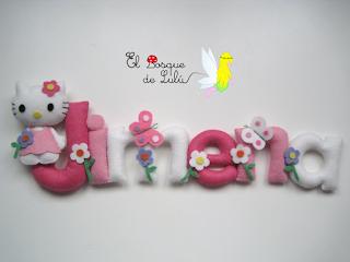 nombre-fieltro-Jimena-Hello-Kitty-decoración-personalizada-infantil-name-banner-detalle-nacimiento-elbosquedelulu-hechoamanoparati
