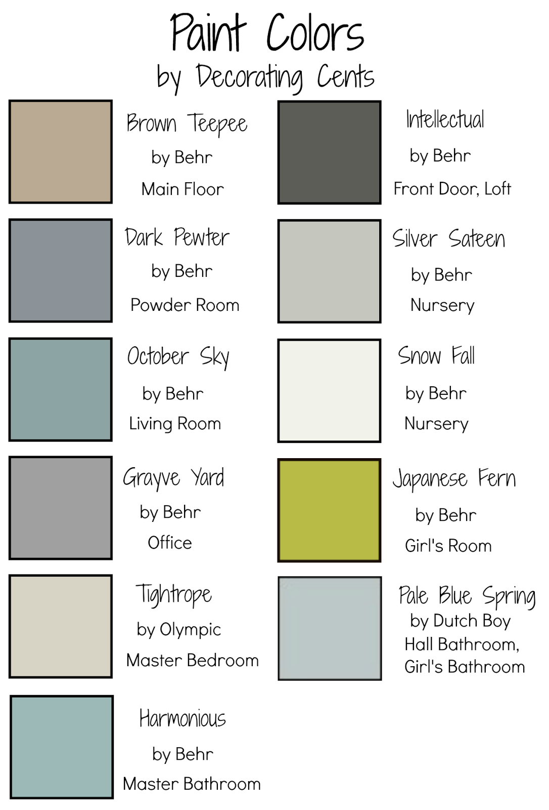 What colors go together when painting my web value for Paint colors that go together