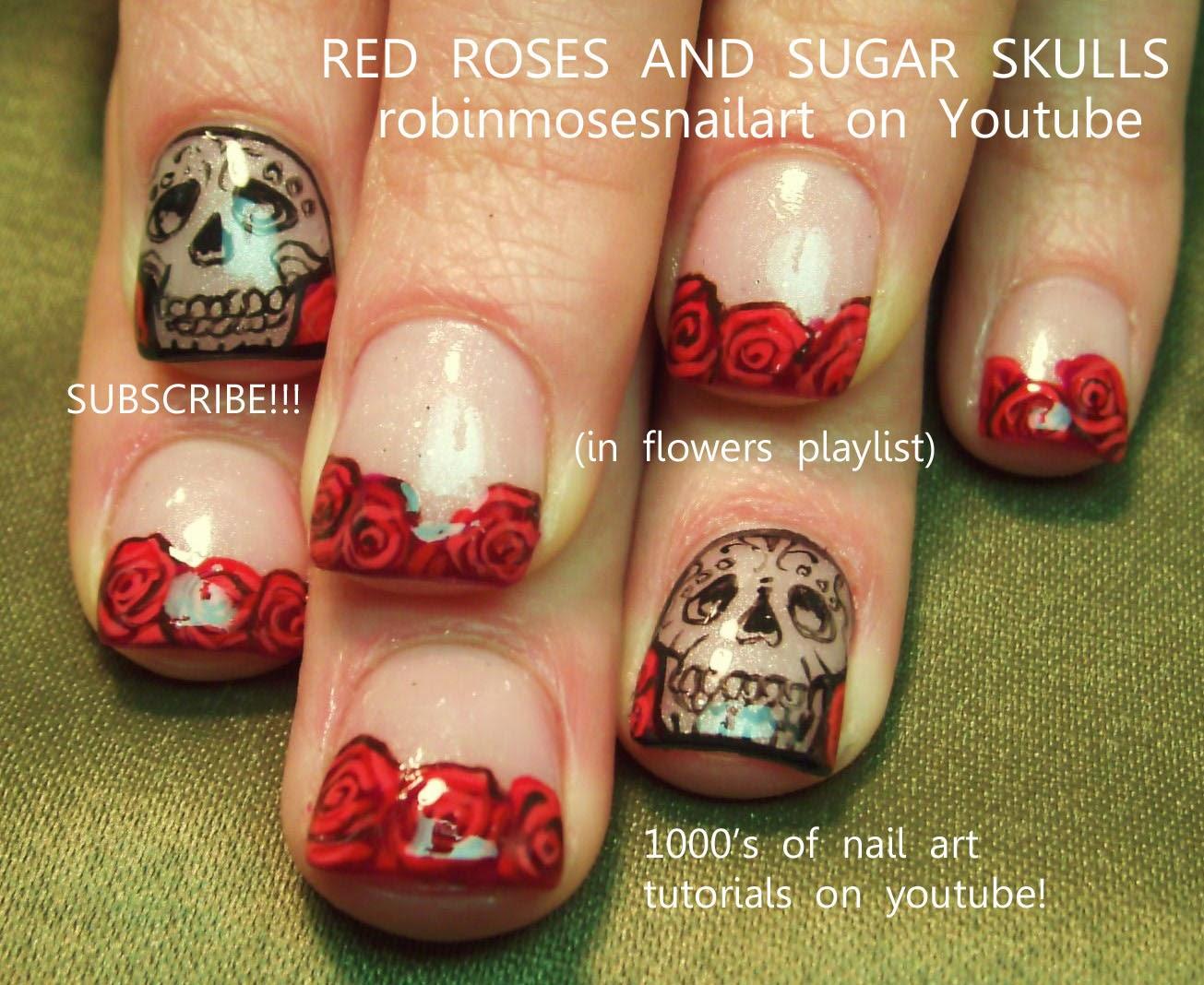 Robin moses nail art rose nail art nail art nails red gold rose nail art prinsesfo Choice Image