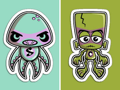 Swamp and Creature Mascot stickers at RedBubble!