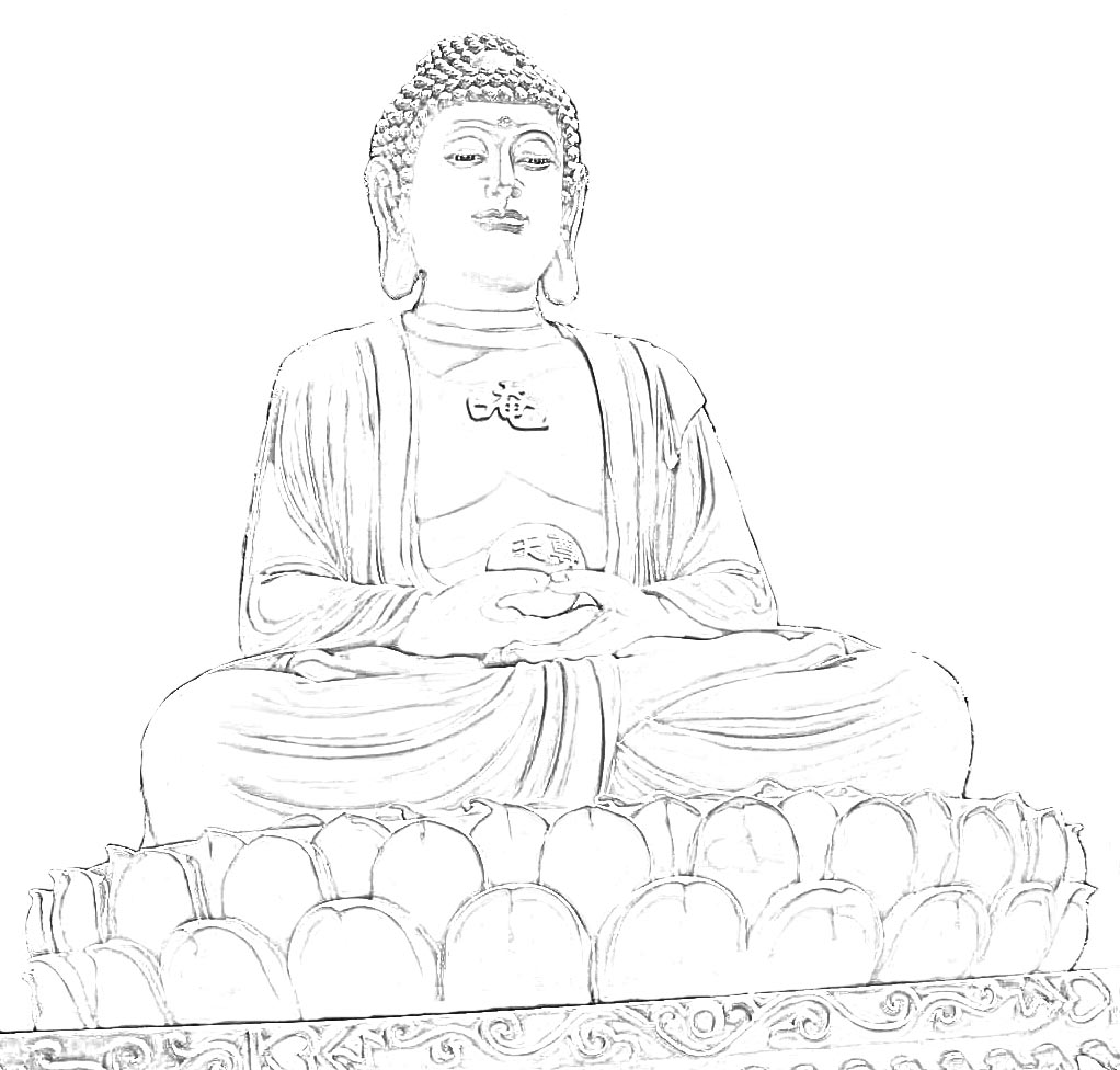 Buddha Face Line Drawing : Stock pictures sketches and drawings of buddha