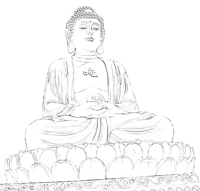 golden buddha sketch