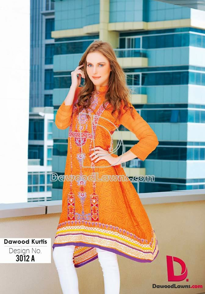 Spring Embroidered Lawn Kurti 2015