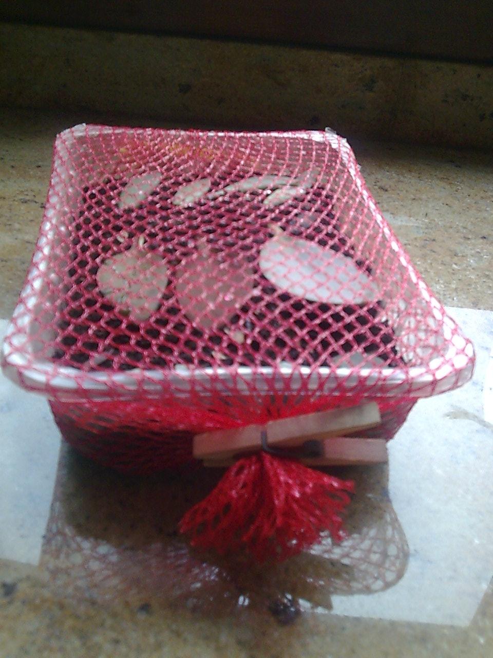 Aprendiz reutilizar malla de pl stico de fruta para - Mallas de plastico ...