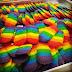 Biskut Lidah Kucing Pelangi atau rainbow cookies