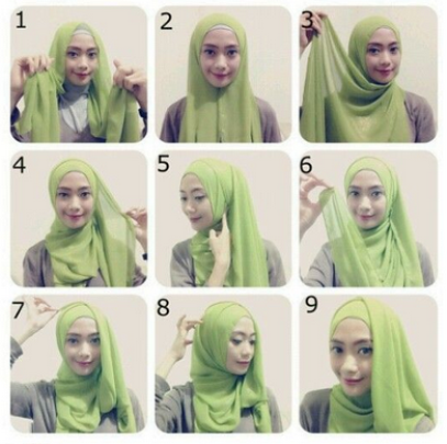 Hijab pesta simple modern
