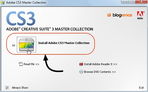 Cara Detail Install Adobe CS3 Master Collection (Full Gambar Tutorial)