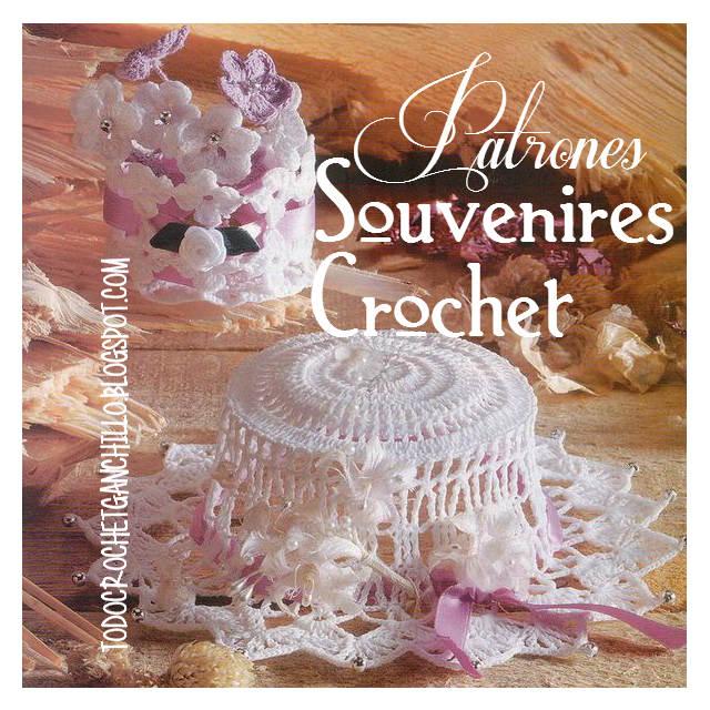 Patrones de souvenires capelina y centro floral para tejer crochet