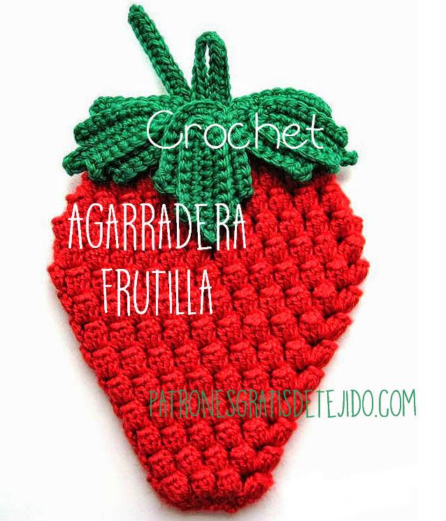 agarradera crochet tejida con punto pop corn