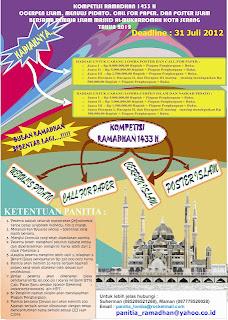Kompetisi Ramadhan 1433 H dunialombaku.blogspot.com