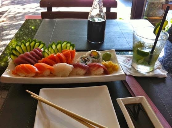 Sushi Lunch at Opium Restaurant, Golden Tulip Ipanema