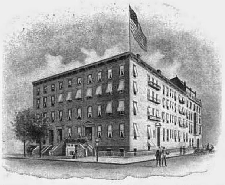 Kensington Hotel 1901, Formerly Haight House Apartments (French Plan) 1870,  Formerly New York Club, Formerly Private Residences, NYC