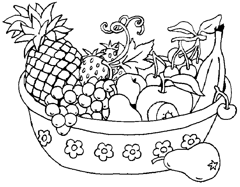 fruit basket pictures for kids colour drawing hd wallpaper