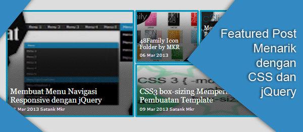 Featured Post Menarik dengan CSS dan jQuery