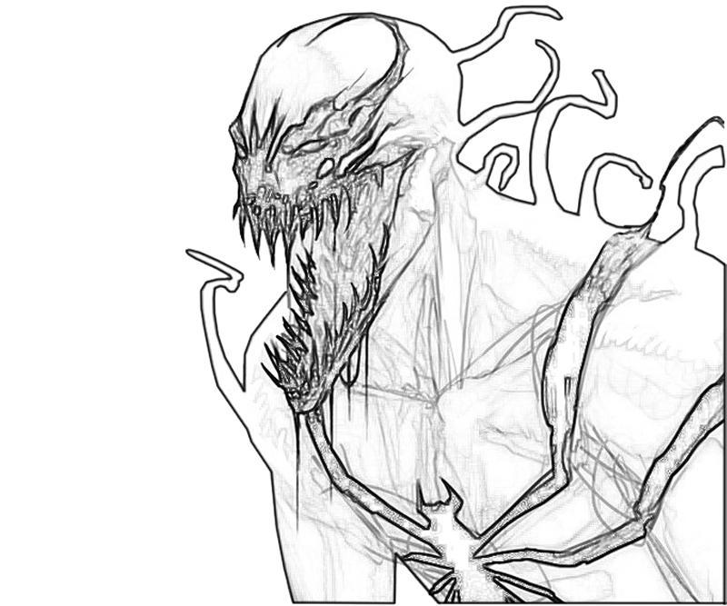 Venom Face Coloring Picture