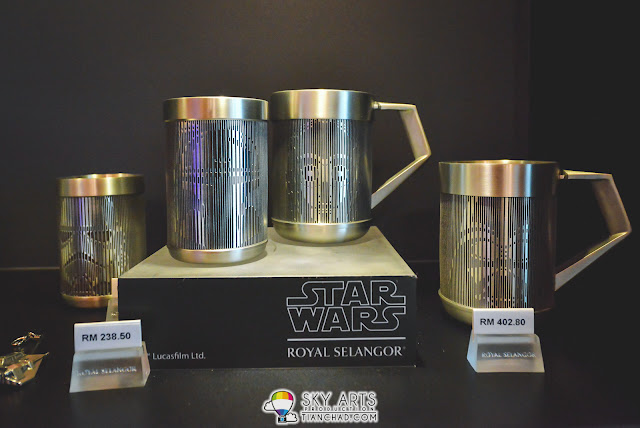 Stormtrooper and Boba Fett tumblers (MYR 402.80) , Darth Vader and C-3PO mugs (MYR 238.50)