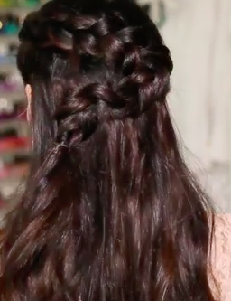 Wavy Half Up Half Down Braided HairStyle - Full Video Tutorial