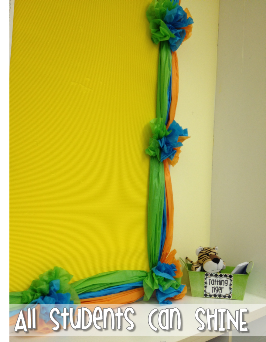 Classroom Border Ideas ~ Tissue paper border a tutorial all students can shine
