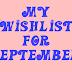 Szeptemberi kívánságlista